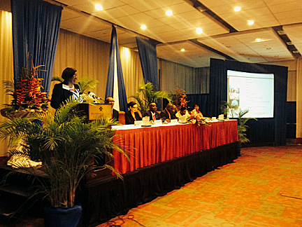 On April 9, 2015, the day President Obama visited Jamaica, Dr. Wilson opened the annual meeting of the Jamaica Teachers Association's National Annual Conference. This presentation served as a kick-off for Dr. Wilson's countrywide initiative in support of Jamaican teachers.